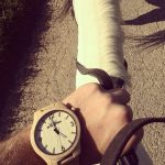 Dřevěné hodinky Woowa Orloy Maple horse