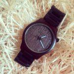 Dřevěné hodinky Woowa Ebony