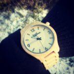 Dřevěné hodinky Woowa Orloy Maple winter