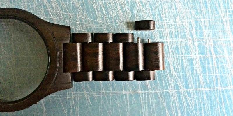 dřevěné hodinky zkrácení řemínku pásku u hodinek postup