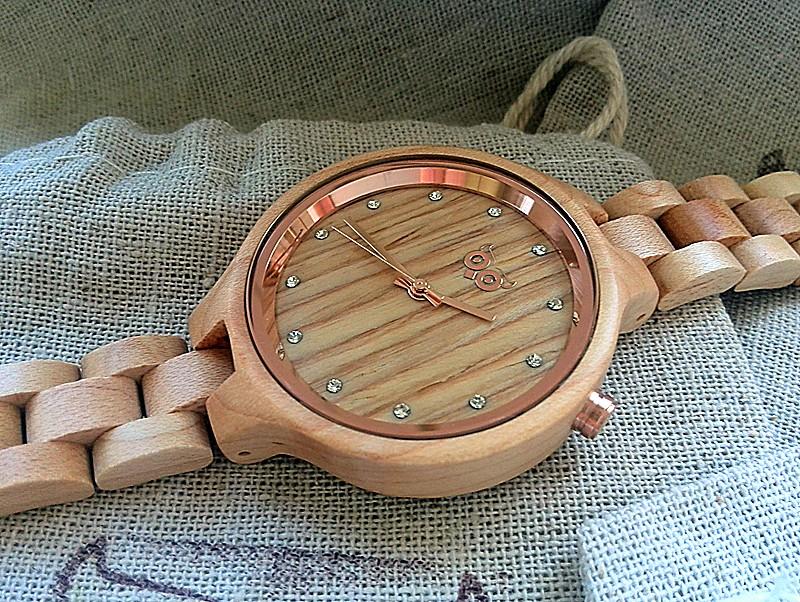 Dřevěné hodinky Woowa wooden watches Nikki Maple