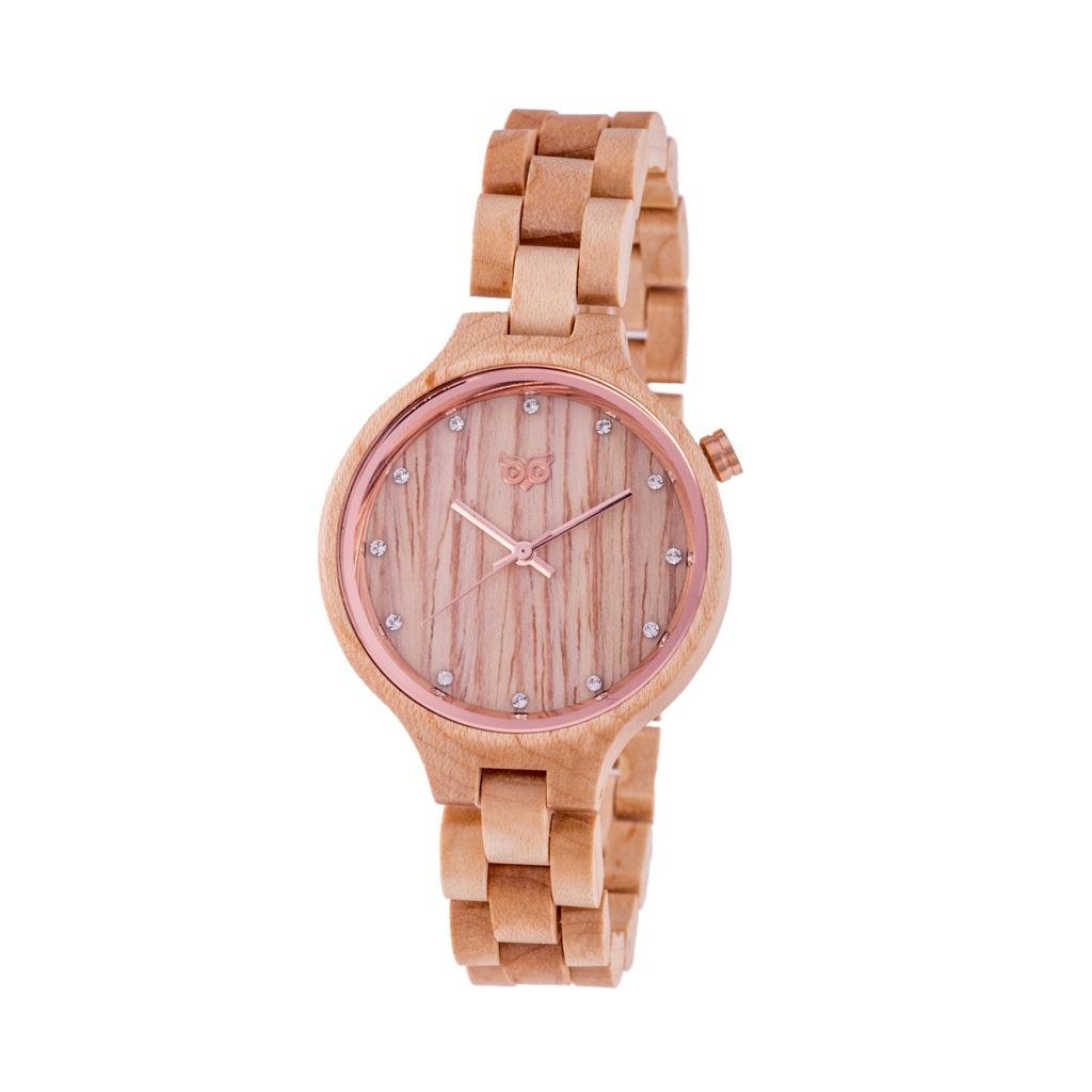 Dřevěné hodinky Nikki Maple