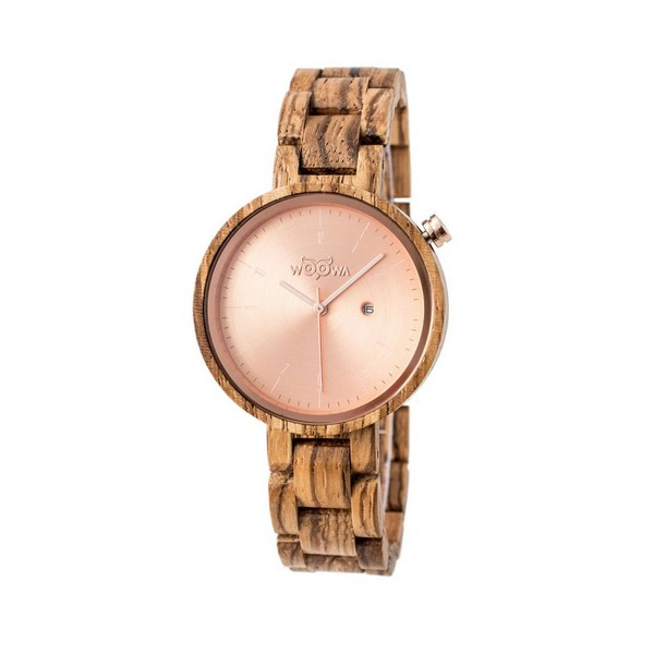 Dřevěné hodinky Mirri Zebrano