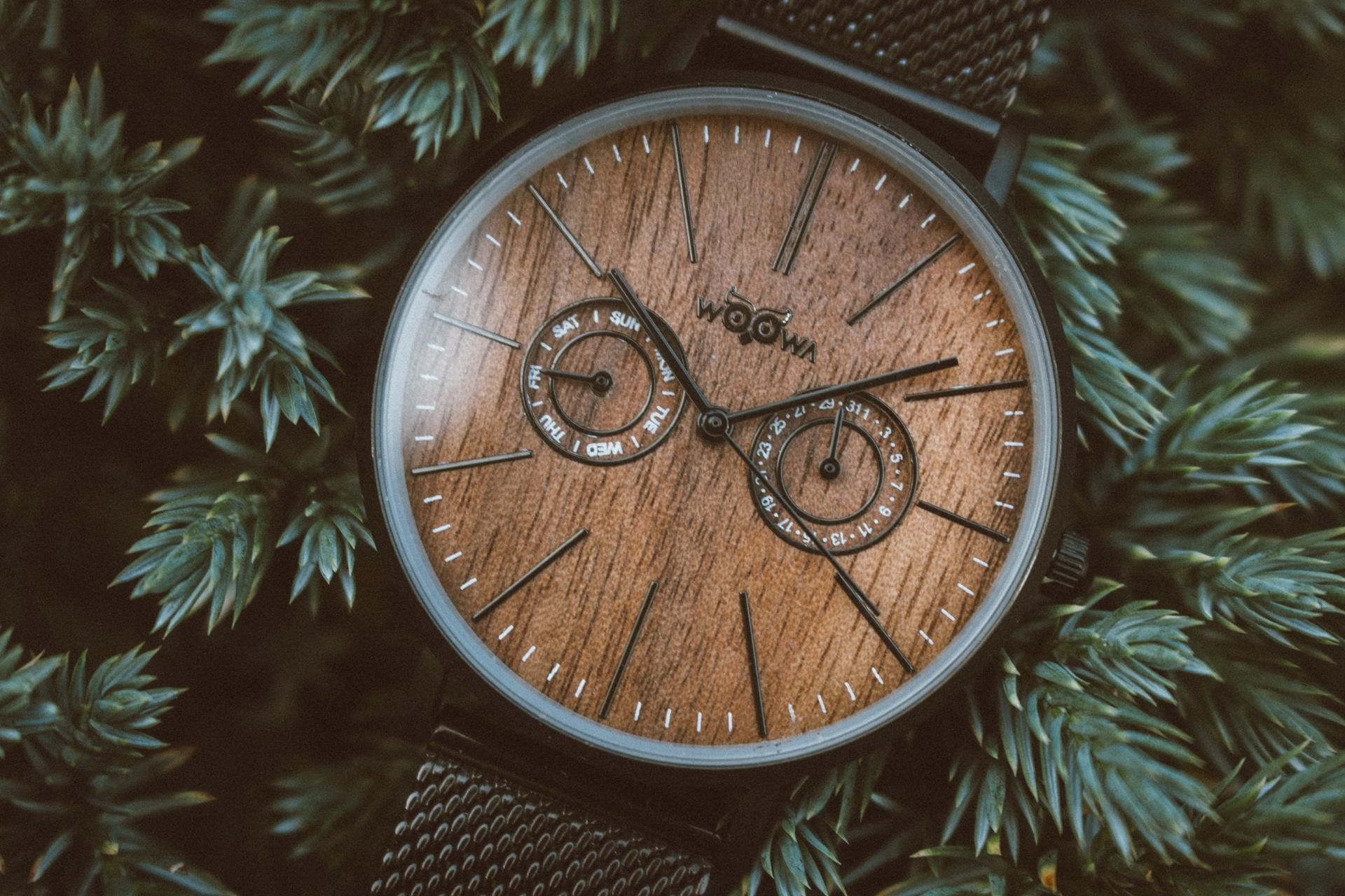 Dřevěné hodinky Stain Black