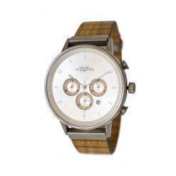 Dřevěné hodinky s chronografem